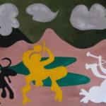 Adéla Sněhotová, parafráze na P. Picassa, akryl na papíře, 2018