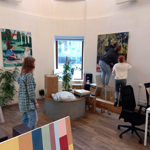 Malba v HUB Ostrava